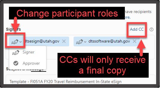 Recipients Screenshot